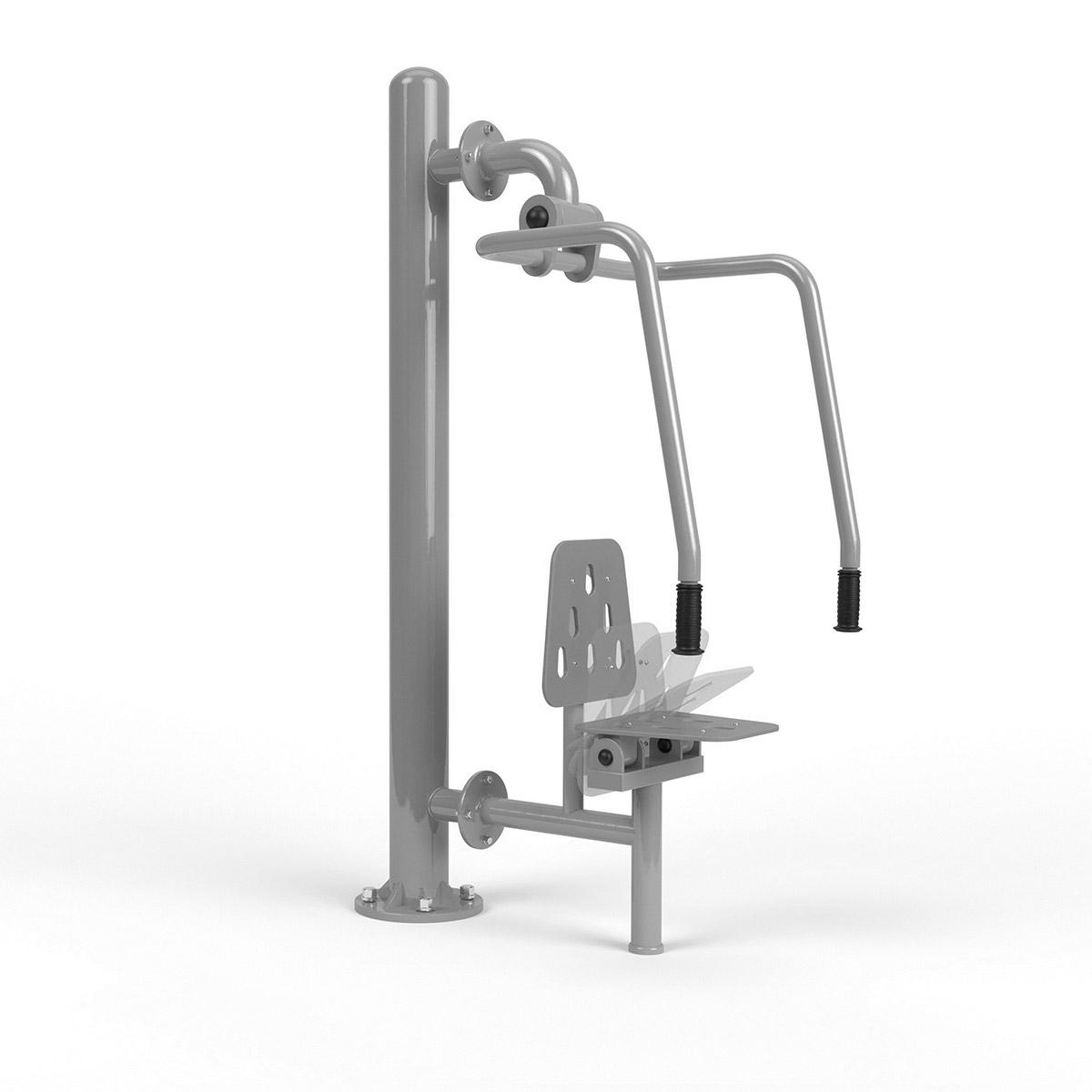 Integrierte brustpresse Edehlstahl + pole Stainless Steel