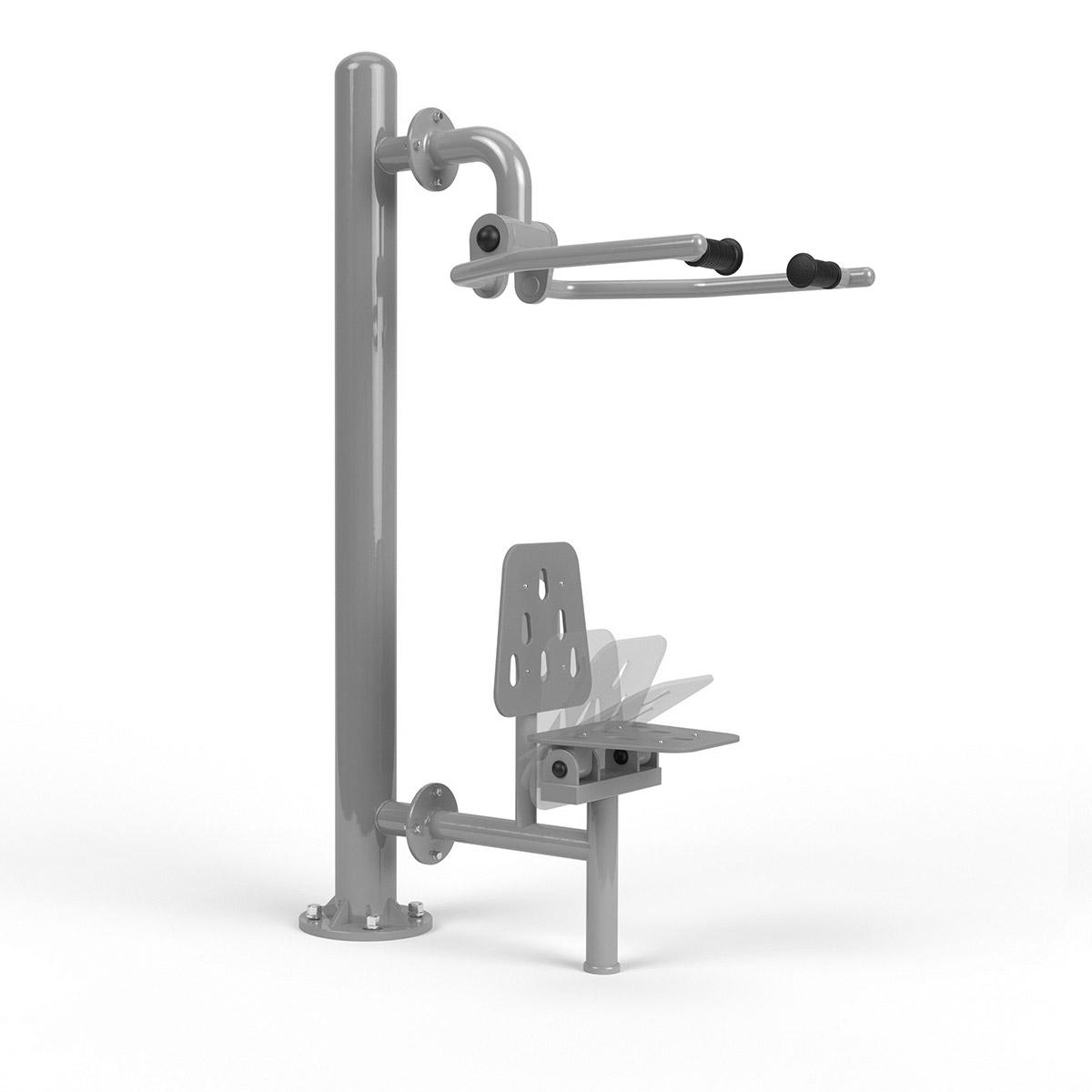 Integrierte armpresse Edehlstahl + pole