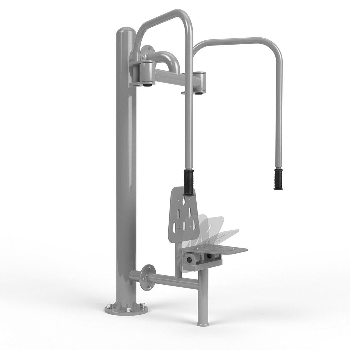 Integrierter schmetterling Edehlstahl + pole