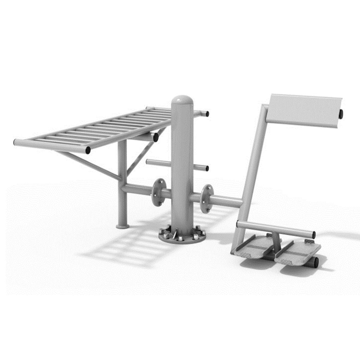 Trainingsbank & Rückenstation Edehlstahl